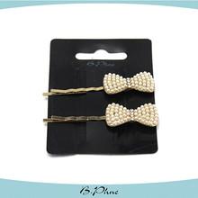 Bowknot cristal nupcial da pérola do casamento cabelo pin, cabelo pino de bobby, apertos do cabelo bobby pin