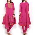 kurtaกับdupattaรูปแบบดั้งเดิมของอินเดียที่ทันสมัยเสื้อผ้าอินเดีย