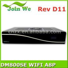 set top box sunray dm800hd se wifi a8p sim card can flash original software with bcm 4505 dvb-s2 tuner