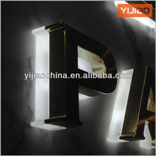 waterproof fabricated backlit led letter stainless steel letter