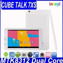 Cube Talk 7XS U51GT 7 Inch Cheap Tablet PC Hot Buy Best Quality 3G Android Tablet PC MTK8312 Dual Core 1.3GHZ 3G Phone BT GPS