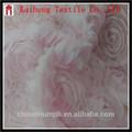 Alibaba de China stocklot rosado de lujo del diseño de rose francés encaje de malla de tela, Nupcial / de la boda / fiesta santo puras y tela