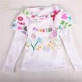 Primavera/autunno fiori shirt manica lunga di cotone ragazze casuale abbigliamento a basso prezzo di vestiti per bambini
