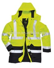 hi vis flame resistant waterproof jacket for security