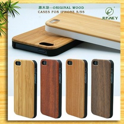 China supplier handmade natural wood wooden hard bamboo case cover for iPhone 6/6plus with cherry