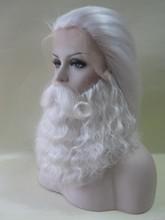 custom made yak white hair santa claus wig and beard fake mustache
