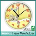 Itens promocionais de plástico decorativo set urso relógio de parede