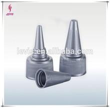 Grey sharp mouth plastic screw neck cap