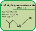No del cas. 926-62-5 grignard reactivos- isobutylmagnesium 1m bromuro en thf