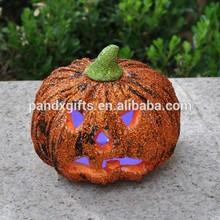 Halloween small Polyfoam pumpkin with led light decor