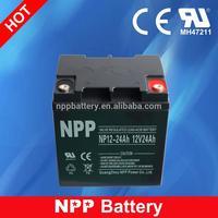 12V 24AH Sealed Lead Acid Storage Rechargeable 12V Battery Waterproof