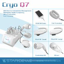 Cryo reducir la grasa celulitis rf y cavitación ultrasónica adelgazamiento de glúteos lifting dispositivo - Cryo Q7