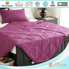 popular purple color down throw blanket