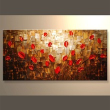 Home goods oil paintings on canvas flowers