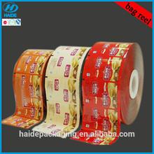 custom printed laminated material plastic packaging for food