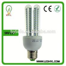 9W good quality energy saving bulb 360 degree led bulb u-shaped led bulb housing