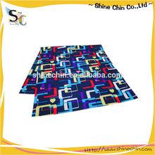 Harmonic cubic pattern dye sublimation heat transfer print bandana