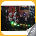 Christmas decoration prints on led light and optical fiber canvas with Marilyn Monroe