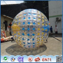 Exciting rolling ball! CE inflatable ground zorbing ball, funny zorb ball for sales