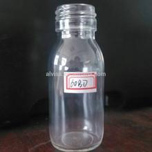 60ml fruit juice glass bottle with screw neck