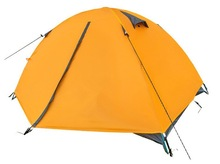 2 person double-layer reinforce fiberglass camping tent
