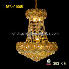 10 lights amber crystal chandeliers with fabric