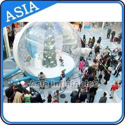 Giant Inflatable take photo Snow Globe/Big Wonderful Crystal Ball Festival Inflatable Decoration/Snowglobe Auto