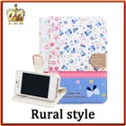 LZB Rural style Hot sale Rural style flip cover protection case for iphone 4