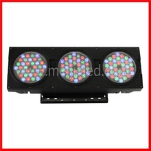 108pcs 3w led dmx512 control rgb colorful round wall washer