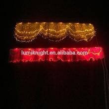 Window decoration High quality LED fiber flexible Valance, luminous curtain
