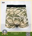 95% 5% algodão spandex camo design cueca boxer para homens