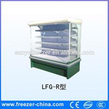 Fashional supermarket refrigerator no freezer for cheese/drink/fruit