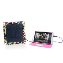 Foldable Hottest 5V,3.5 Watt solar fabric mobile phone panel for camping emergency