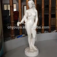 garden stone woman white marble statue