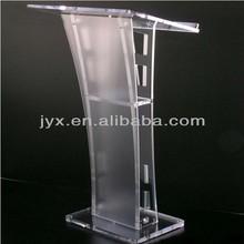Fashion style 700*500*1203mm clear acrylic church pulpit, modern design acrylic podium for church