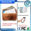 Ultra slim mobile battery card power bank Manufacture 2000mAh