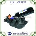 polyresin oso negro botella de vidrio titular de manualidades