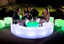 Led rechargeable illuminated bar beach chair