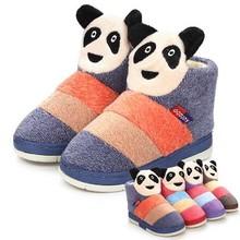 Ingrosso ts6023 dei bambini cotone- invernale imbottito colori misti Panda botton pantofole a casa