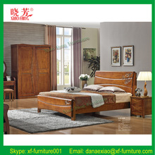 Promotion new furniture product China supplier carved wooden queen size folding bed (XFW-618)
