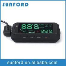 12V LED comprehensive HUD car speedometer display KMH MPH