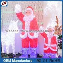 Manufactory best quality christmas led lights giant santa claus / fiber optic santa claus for sale