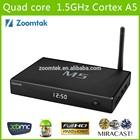 Zoomtak M5 Amlogic S805 google Quad core android 4.4.2 tv box/dual brand wifi bluetooth 4.0, XBMC, 1G+8G, Hotspot H.265 1GB ram