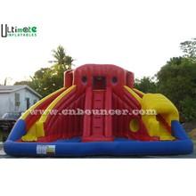 Large inflatable pool slide for children