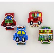 อาลีบาบา- แสดงโปรโมชั่นพีวีซีตบนาฬิกาที่มีสีสันการออกแบบรถยนต์