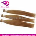 Chocolate marrón color de pelo, humanos baratos el cabello 100g paquetes