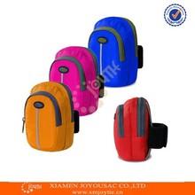 Portable running arm band phone bag