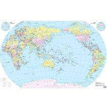 globe political print wall world map