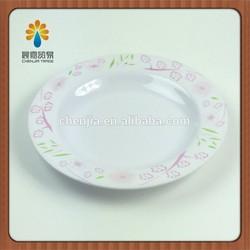 wholesale melamine round dinner plate,melamine salad plate