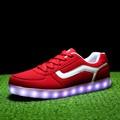 2015 moda konfor şık led ışık tek dantel- nedensel ayakkabı çift ayakkabı kırmızı